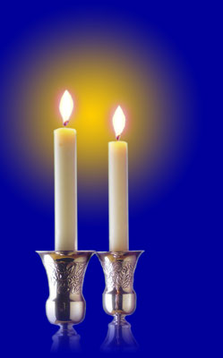 Shabbat Candles In The Summer