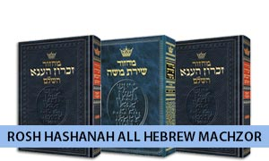 Rosh Hashanah All Hebrew Machzor