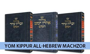 Yom Kippur All-Hebrew Machzor