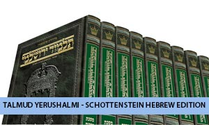 Schottenstein Hebrew Edition Talmud Yerushalmi