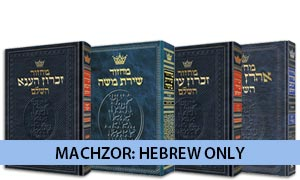 Machzor: Hebrew Only