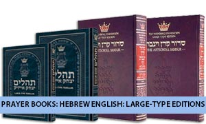 Prayer Books: Hebrew English: Large-Type Editions