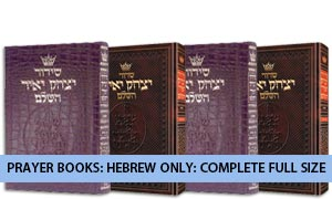 Prayer Books: Hebrew Only: Complete Full Size
