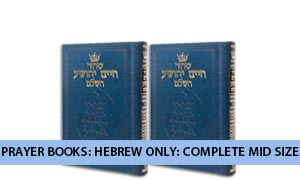 Prayer Books: Hebrew Only: Complete Mid Size