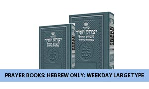 Prayer Books: Hebrew Only: Weekday Large Type