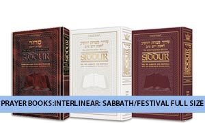 Prayer Books:Interlinear: Sabbath/Fest Full Size