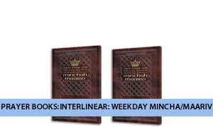 Prayer Books:Interlinear: Weekday Mincha/Maariv