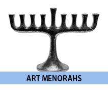 Artistic Menorahs